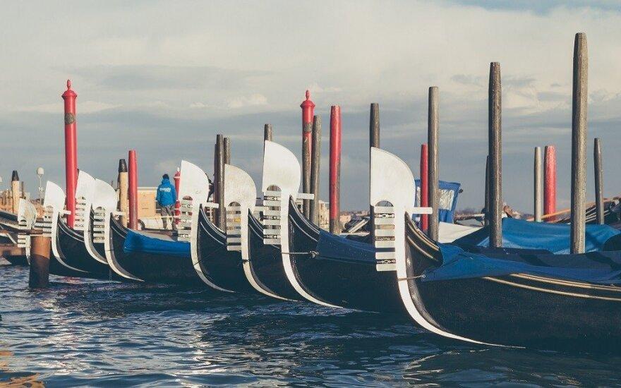 В Венеции гондольеры остались без работы из-за обмеления каналов