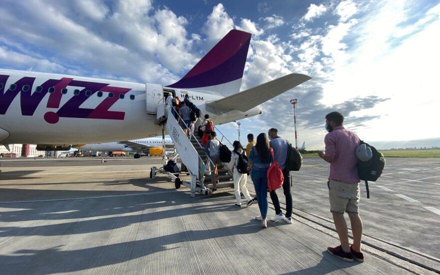 Пассажиропоток в аэропортах Литвы в августе вырос на 21%