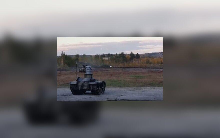 В интернете появилось видео испытаний российских боевых роботов