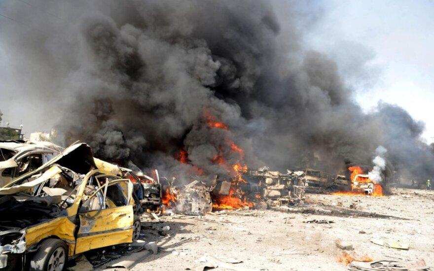 Sirijos sostinę sudrebino galingi sprogimai