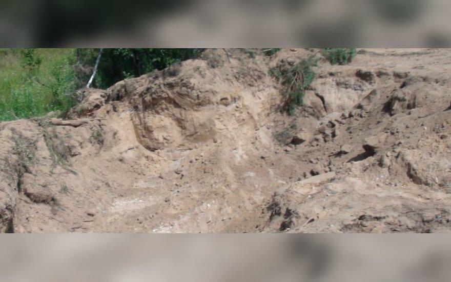 Kraštovaizdis po smėlio vagystės
