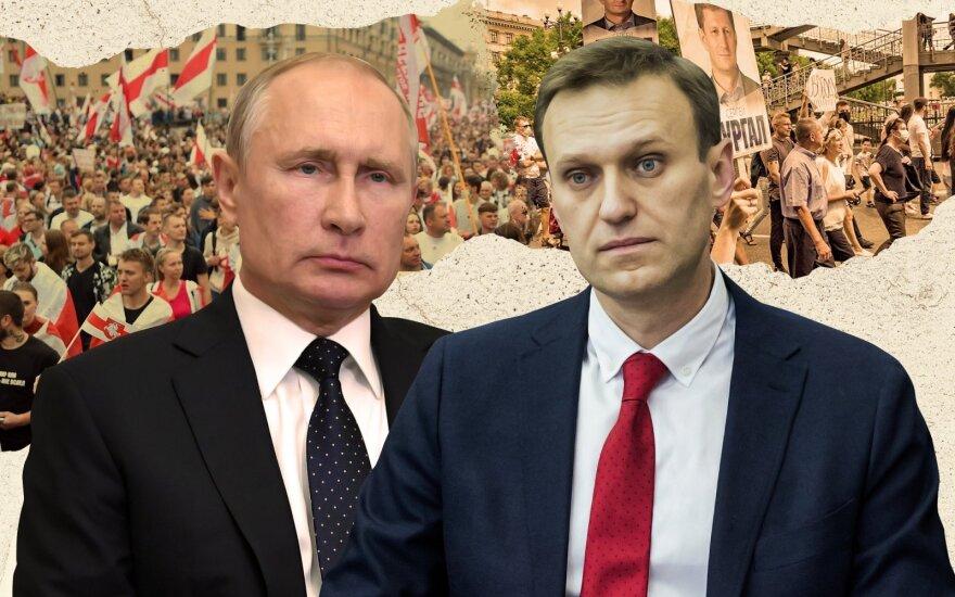 Putinas, Navalnas / Delfi montažas, Scanpix (Itar-Tass nuotr.)
