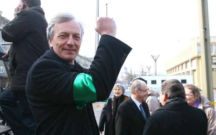 """На митинге """"За справедливость"""" - обвинения Грибаускайте"""