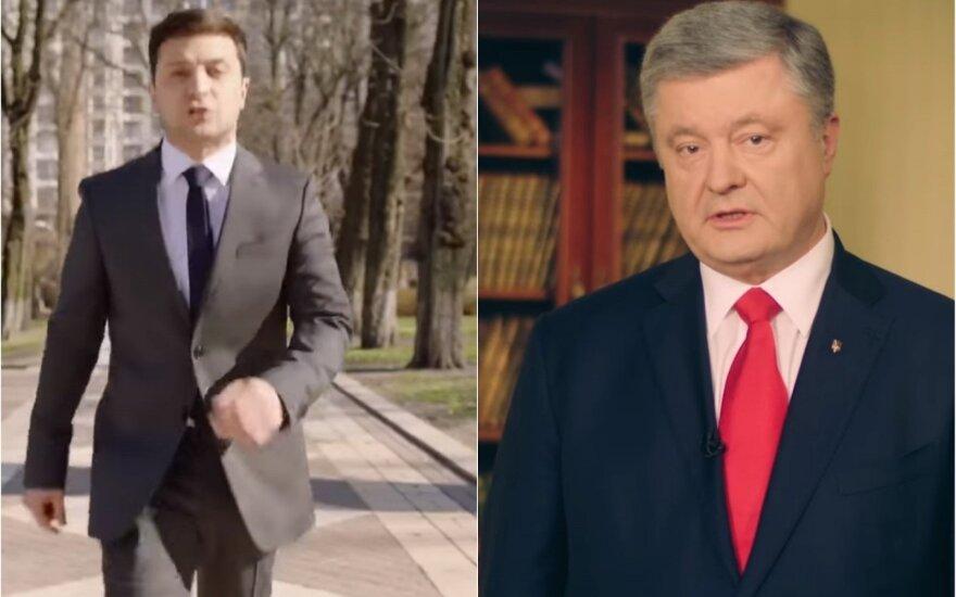 Volodymyras Zelenskis, Petro Porošenka