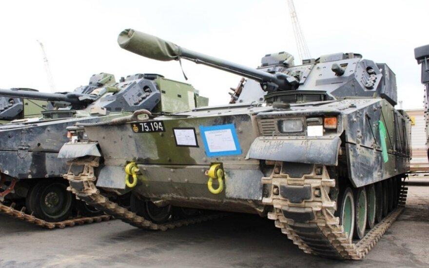 Czołgi NATO wjechały na Litwę. Zobacz ile techniki przywieźli Duńczycy