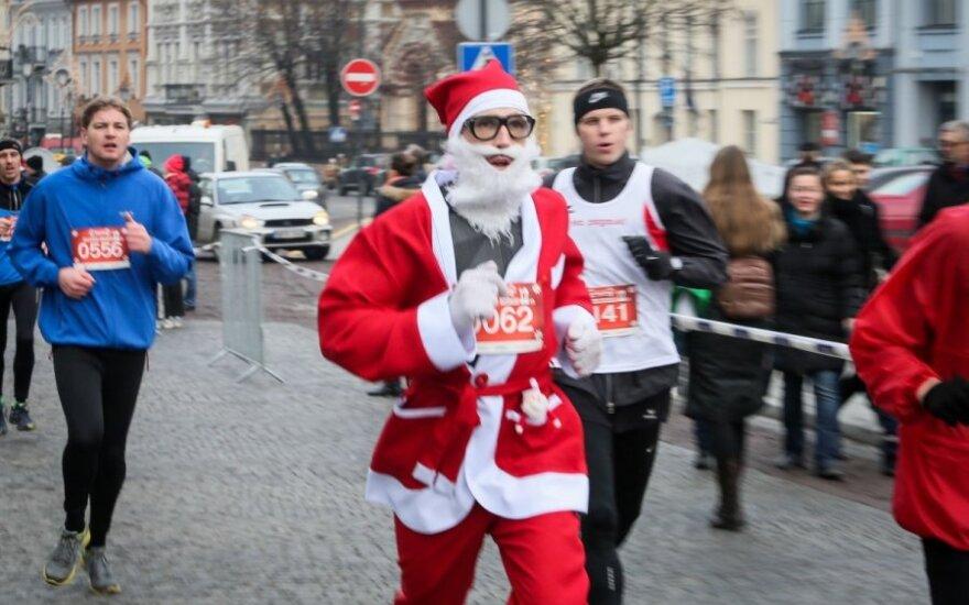 На Рождественском забеге в Вильнюсе - рекордное число участников