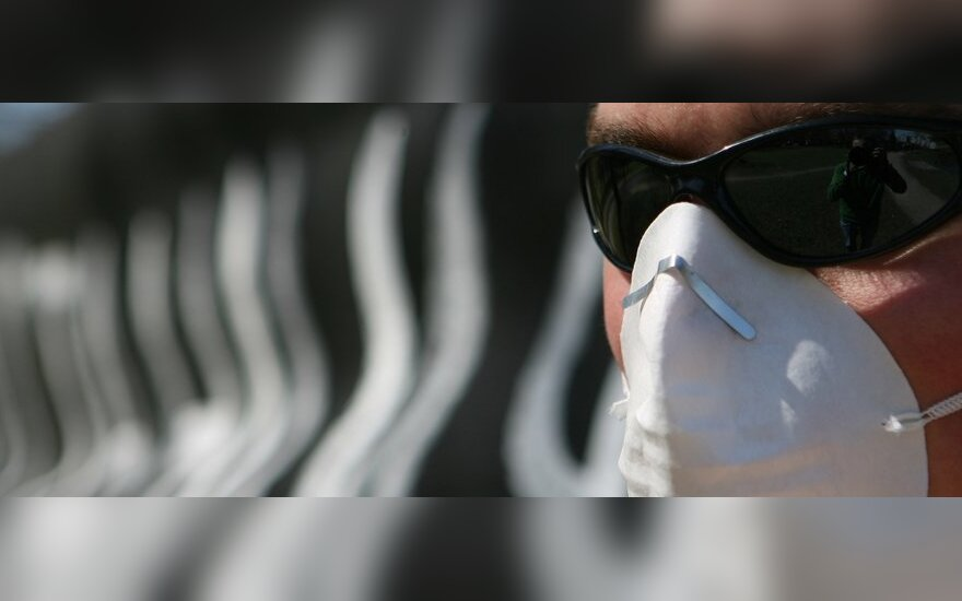 Protestas prieš atomines elektrines prie Rusijos ambasados