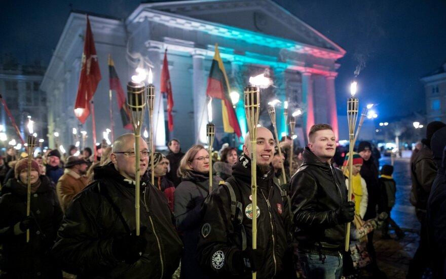 В Вильнюсе в шествии националистов участвовали около 300 человек