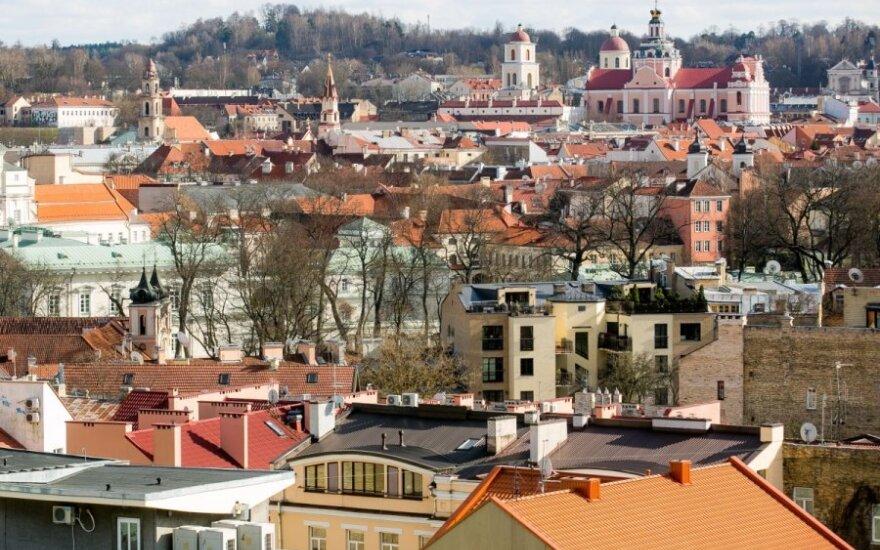 Панорама Вильнюса - взгляд перед большими переменами
