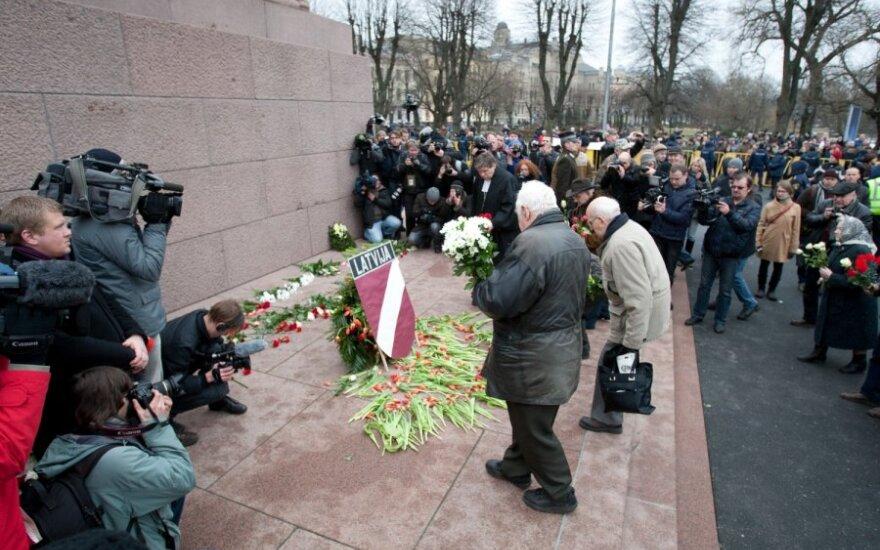 Latvių SS legiono veteranų eitynės Rygoje