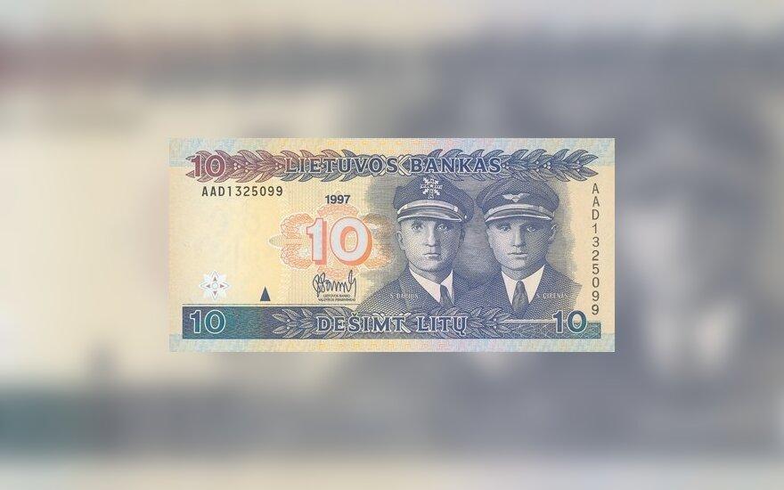 1997 m. laidos 10 banknotas. Lietuvos banko nuotr