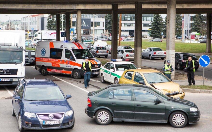 После ДТП в Вильнюсе в больницу доставлены две женщины