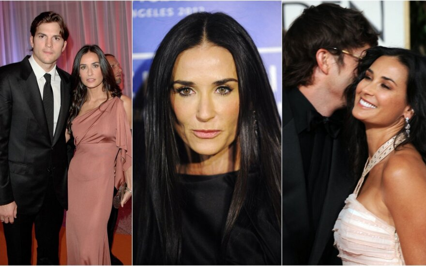 Demi Moore ir Ashtonas Kutcheris