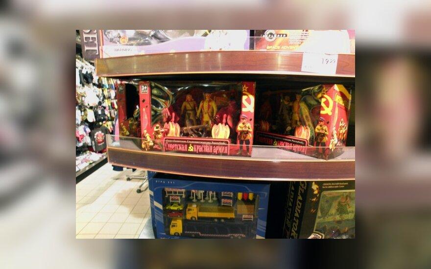 В торговом центре продают советских солдатиков