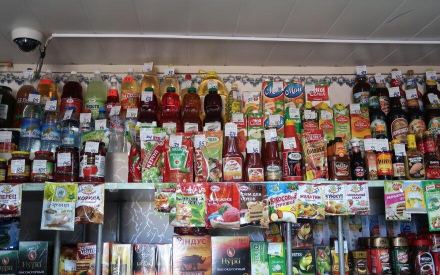 Kainos Sibiro kaimų parduotuvėse