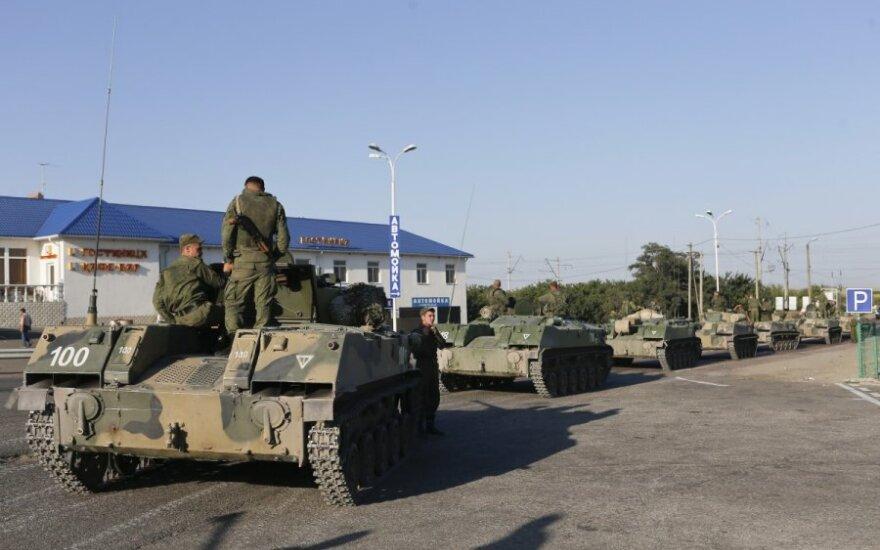 Rusų ginkluotos pajėgos prie Ukraino pasienio