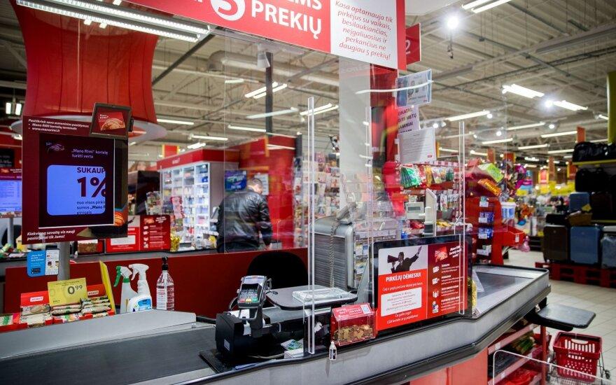 Parduotuvės imasi visų apsaugos priemonių, bet ar imasi pirkėjai?