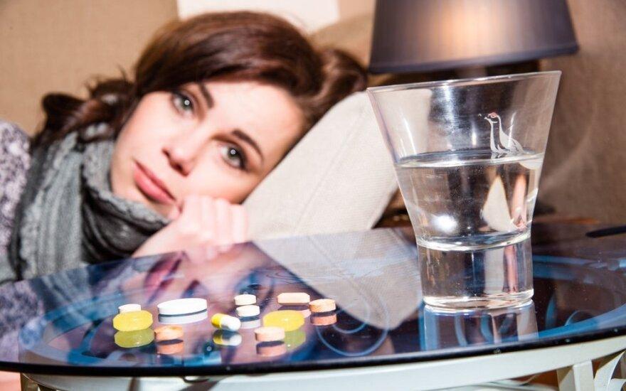 В Литве с гриппом госпитализировано более ста человек