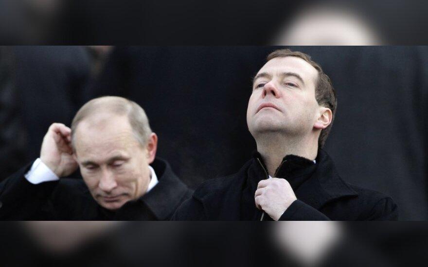 V.Putinas ir D.Medvedevas