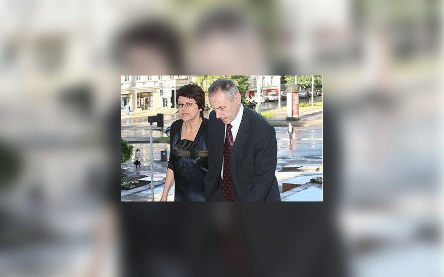 Arvydas Sekmokas su žmona