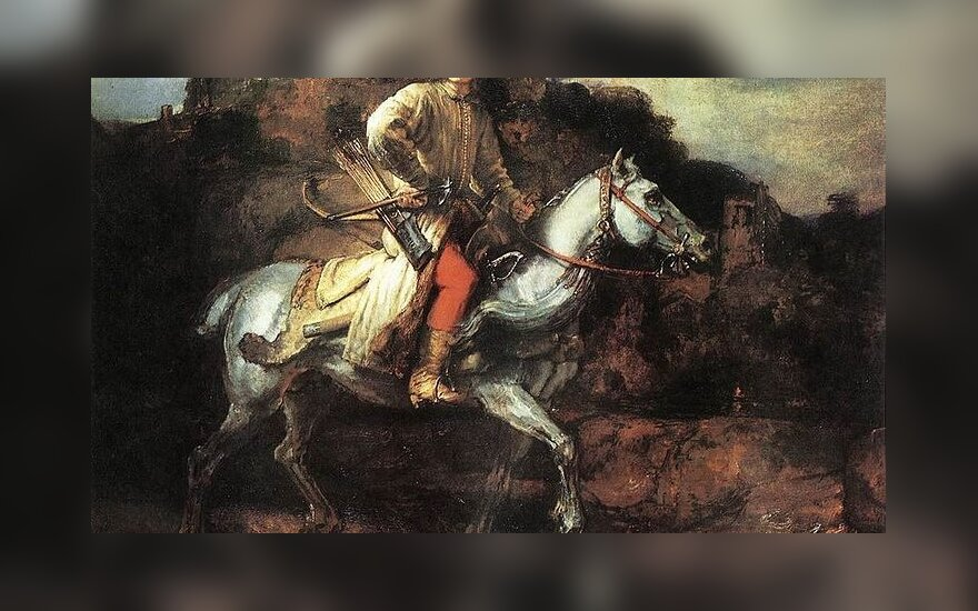 File source: http://commons.wikimedia.org/wiki/File:Rembrandt_-_The_Polish_Rider_-_WGA19251.jpg