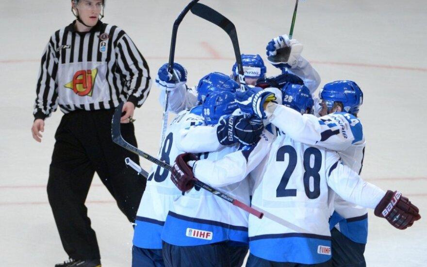 Suomijos ledo ritulininkai džiaugiasi