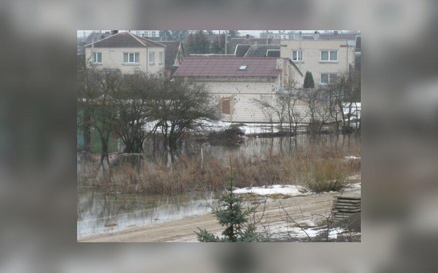 Potvynis Naujojoje Akmenėje, R.Znuto nuotr.