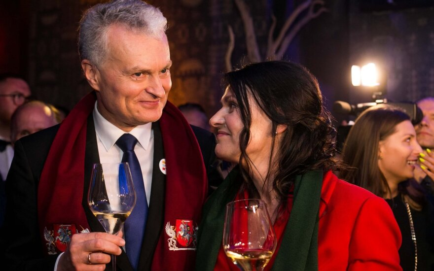 Gitanas Nausėda su žmona