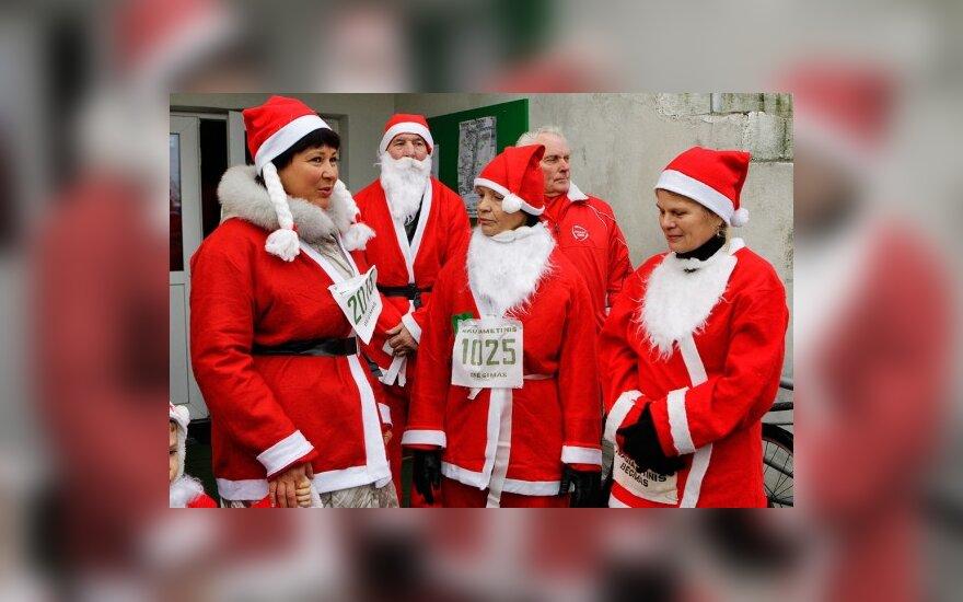 В Вильнюсе состоялся забег Дедов Морозов