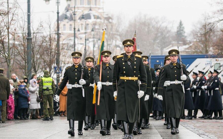 Руководство Литвы поблагодарило защитников свободы на площади Независимости