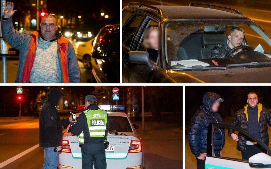 Naktinis reidas: girtas kinas kvietė į restoraną, o taksi vairuotojas plūdo Lietuvą