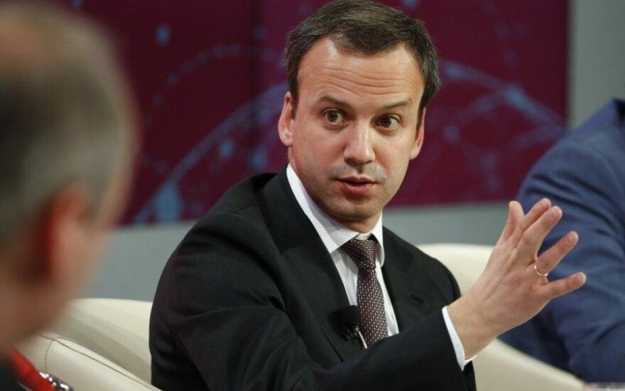 Rusijos vicepremjeras Arkadijus Dvorkovičius Davose
