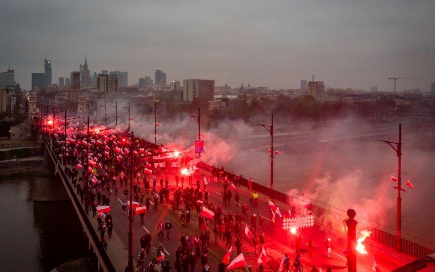 В Варшаве произошли столкновения националистов с полицией