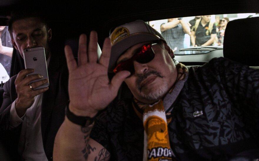 Diego Maradona atvyko į Meksiką