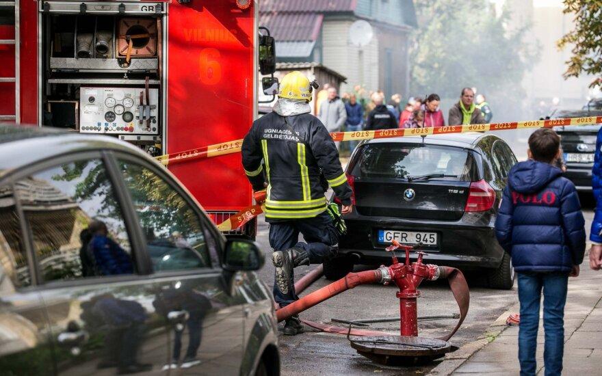 В Вильнюсе во время пожара погиб человек