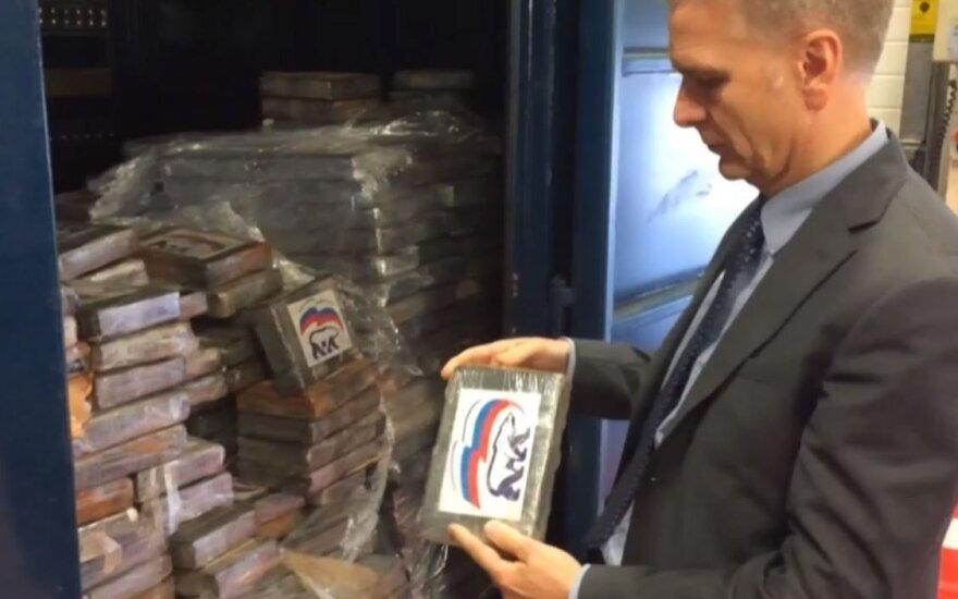 """В Бельгии задержаны 2 тонны кокаина с логотипом """"Единой России"""""""
