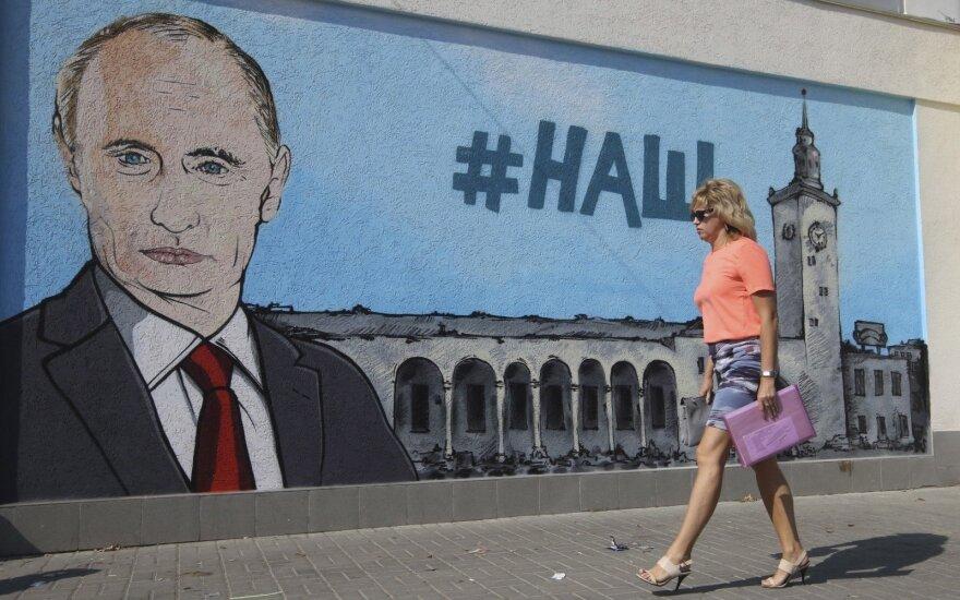 Vladimir Putin's mural in Crimea