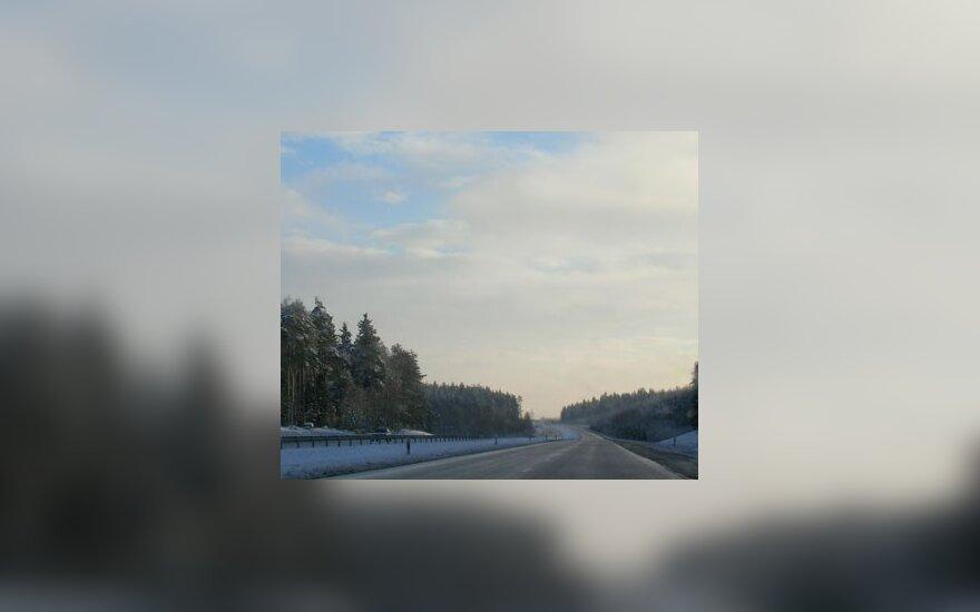 На дорогах Литвы скользко