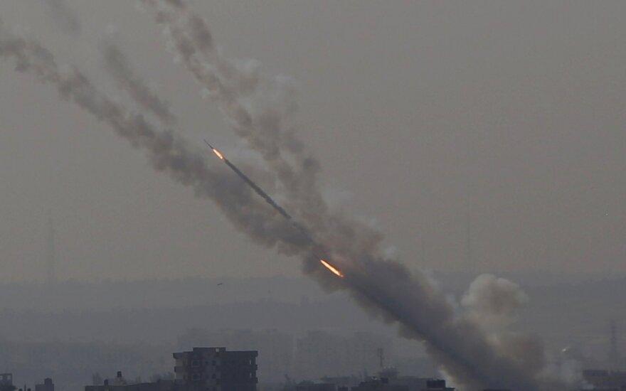 Raketos iš Gazos Ruožo apšaudo Izraelį