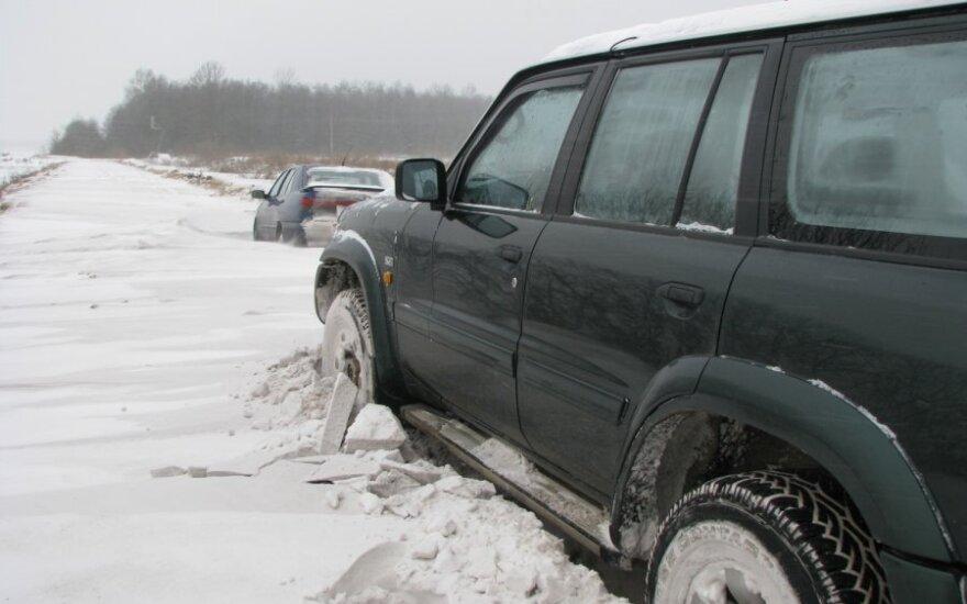 Kauno rajono keliai, pusnys, sniegas, pūga
