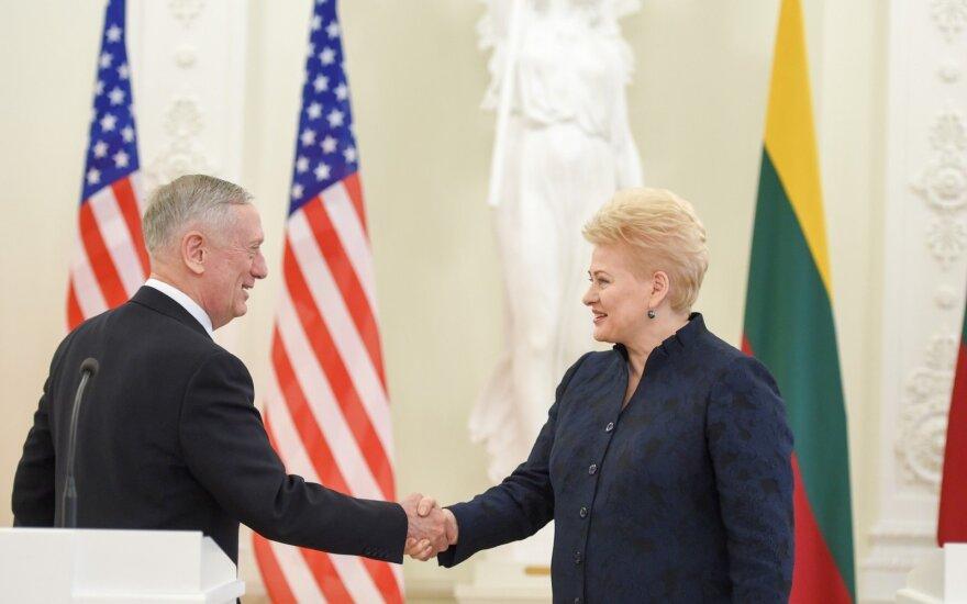 President Grybauskaitė meets the US Secretary of Defense James Mattis