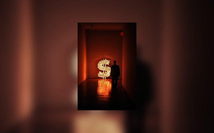 Verslas, pinigai, doleris, verslininkas