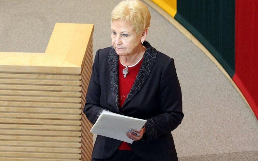 Спикер Сейма Литвы Дегутене разочаровалась в политике