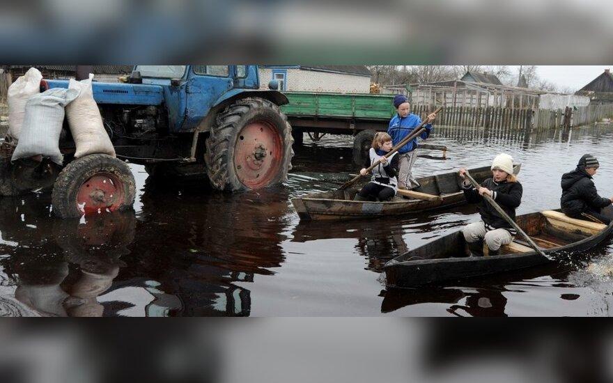 Potvynis kaimyninėje Baltarusijoje
