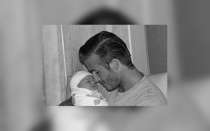 Davidas Beckham ir Harper Seven Beckham