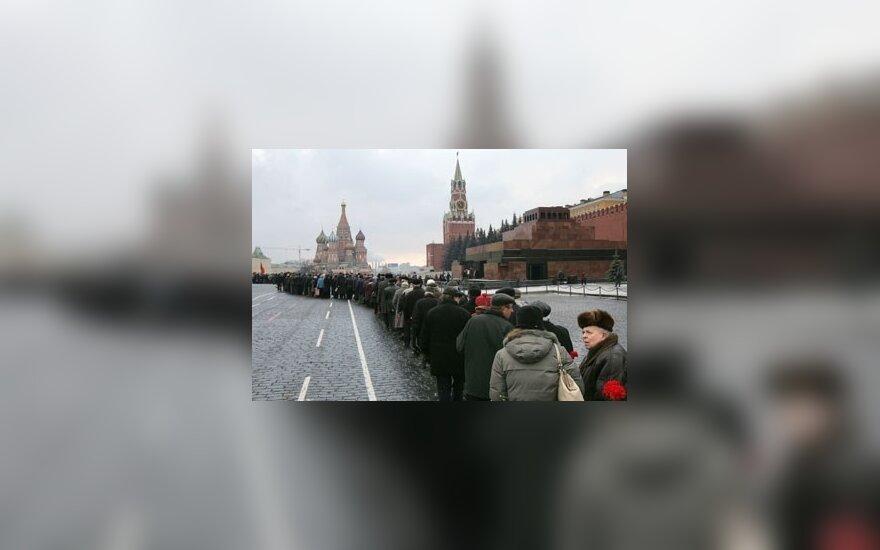 Eilė prie Vladimiro Lenino mauzoliejaus