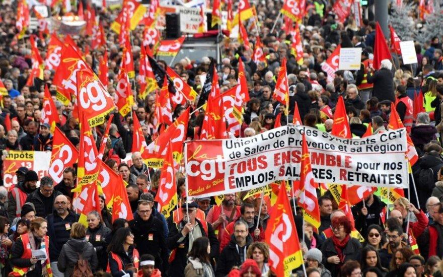 Prancūzija ruošiasi didžiausiems protestams per keletą metų