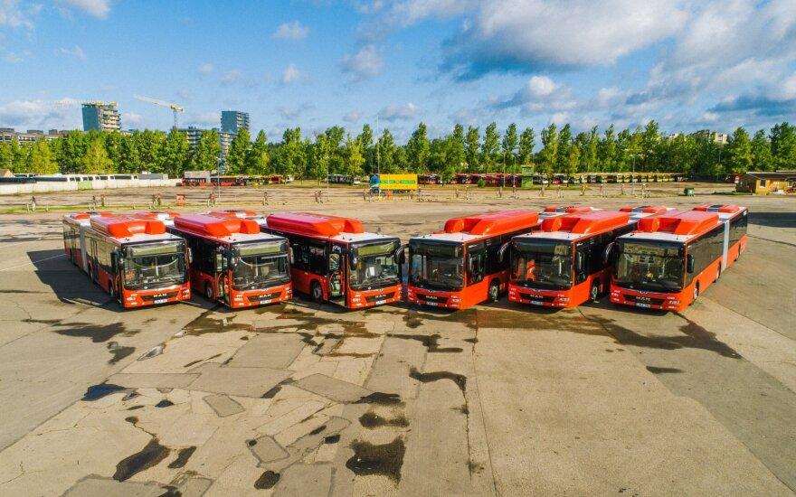 На улицах Вильнюса - 50 новых газовых автобусов