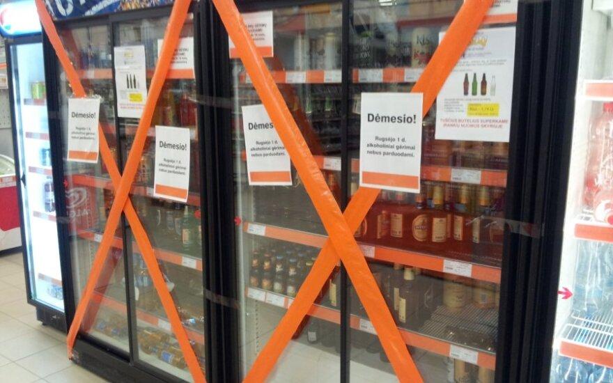 Rugsėjo 1-ąją nevyko prekyba alkoholiu
