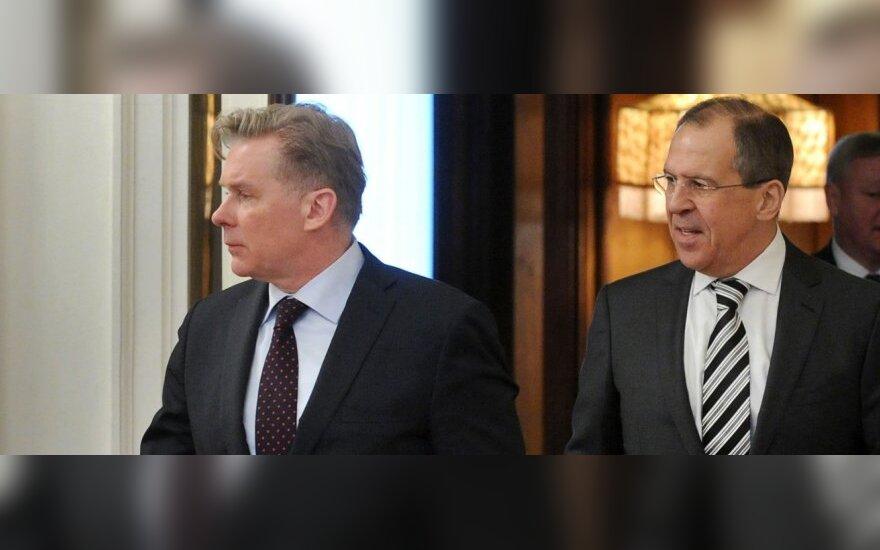 Audronius Ažubalis ir Sergejus Lavrovas